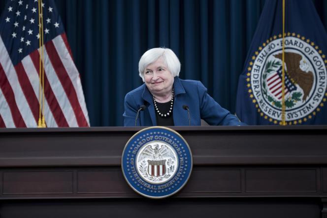 Janet Yellen, la présidente de la Réserve fédérale américaine, le 15mars à Washington.
