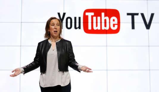 La présidente-directrice générale de YouTube, Susan Wojcicki, le 5 avril, à Los Angeles.