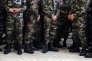 Soldats du 3e Régiment d'infanterie de marine dans leur caserne à Carcassonne, en 2013.