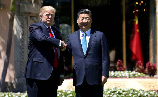 Donald Trump et son homologue chinois, Xi Jinping, à Mar-a-Lago en Floride, le 7 avril.