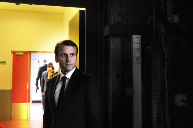 Emmanuel Macron, avant l'enregistrement de «L'Emission politique», le 6avril.