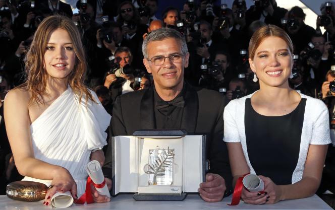 En mai 2013, le réalisateur Abdellatif Kechiche et ses deux actrices, Léa Seydoux, à droite, et Adèle Exarchopoulos, avaient obtenu une triple Palme d'or pour leur film«La Vie d'Adèle».