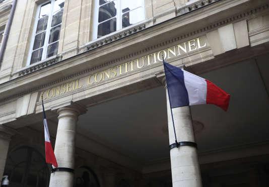 L'entrée du Conseil constitutionnel, à Paris, le 18 mars.