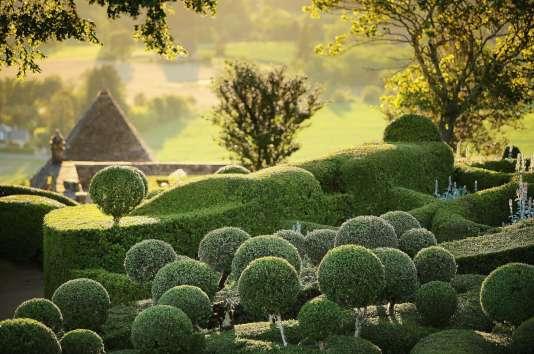 Un jardin façon« retour d'Italie», planté de milliers de pieds de buis.