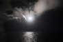 Tir de missile vers la Syrie depuis un detroyer américain, en Méditerranée, le 7 avril.