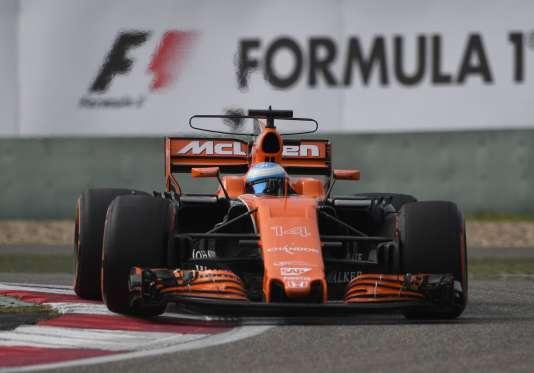 Fernando Alonso au Grand Prix de Shangai, le 8 avril.