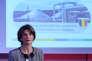La directrice générale d'Engie, Isabelle Kocher, lors de la présentation des résultats annuels du groupe, le 2 mars 2017, au siège de l'énergéticien dans le quartier La Défense près de Paris.
