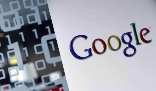 Le logo de Google dans ses bureaux de Bruxelles en 2010.
