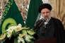 Le clerc conservateur Ebrahim Raisi s'exprime dans la ville sainte chiite de Machhad (nord-est de l'Iran), en février 2016.