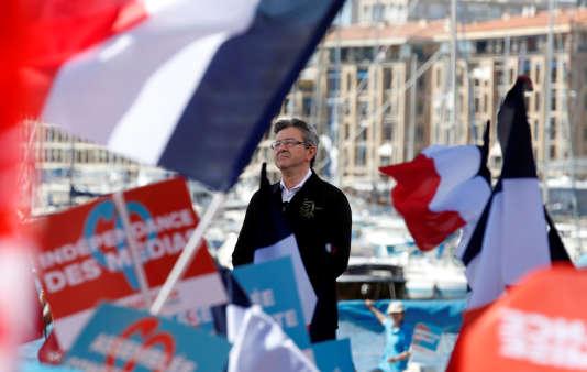 Jean-Luc Mélenchon à Marseille le 9 avril.