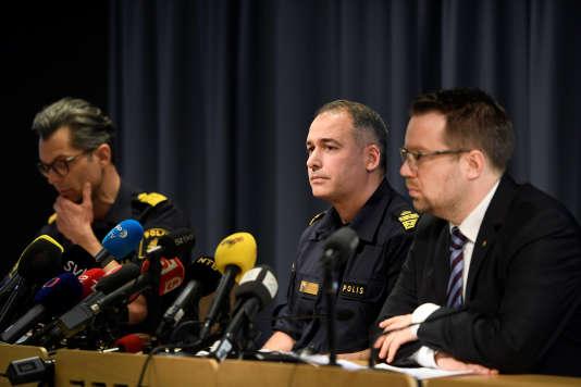 La police suédoise a donné une nouvelle conférence de presse après l'attaque au camion bélier, dimanche 9 avril.