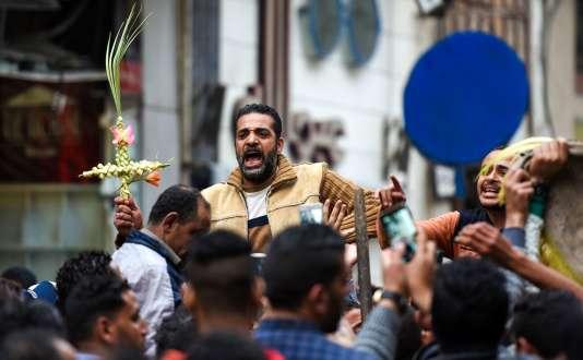 Après l'attaque de l'Etat islamique contre l'église Saint Marc d'Alexandrie en Egypte, le 9 avril.