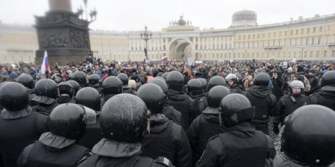 Manifestation anticorruption à Saint-Pétersbourg, le 26 mars.