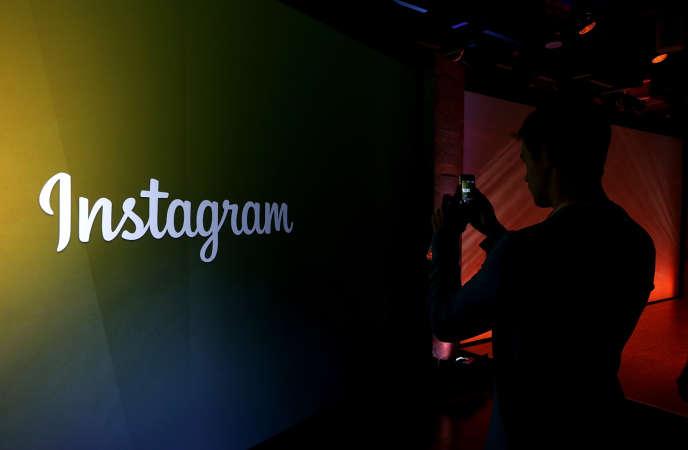 Le logo de l'application d'échange de photos et de vidéos. Fin 2016, Instagram comptait 600millions d'utilisateurs actifs.