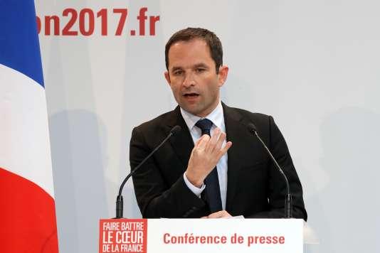 Benoît Hamon à Paris le 10 avril.