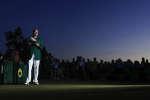 Sergio Garcia, dimanche 9 avril sur le green d'Augusta.