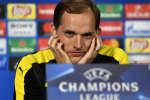 Dortmund's head coach Thomas Tuchel listens to the media during a press conference prior the Champions League quarterfinal, first leg, soccer match between Borussia Dortmund and AS Monaco in Dortmund, Germany, Monday, April 10, 2017. (AP Photo/Martin Meissner)
