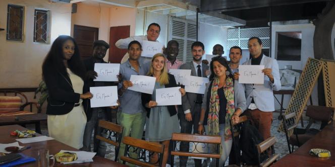 L'équipe fondatrice d'En marche Sénégal, à Dakar.