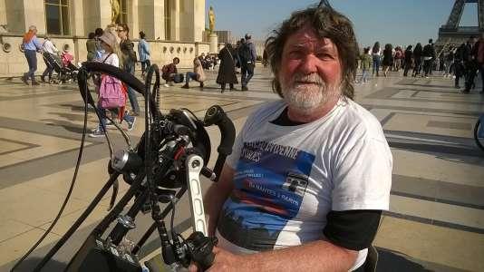 Philippe Raimbault, un des quatre handbikers partis de Nantes le 25 mars.