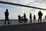 Patrouille armée sur la Promenade des Anglais à Nice le 22 mars.