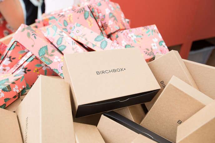 Des boîtes Birchbox à Chicago aux Etats-Unis, le 14 août 2015.