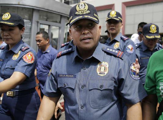 Ronald dela Rosa, le chef de la police des Philippines, à Manille, le 11 avril 2017.