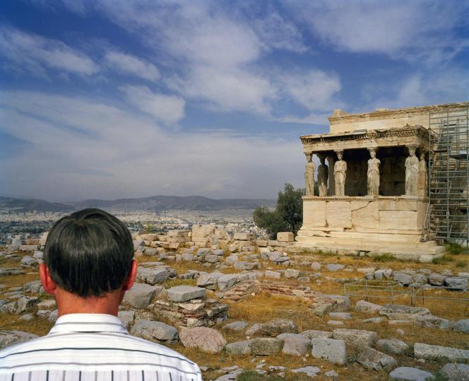 L'Erechthéion (Ve siècle av. J.-C.), sur l'Acropole d'Athènes, en Grèce.
