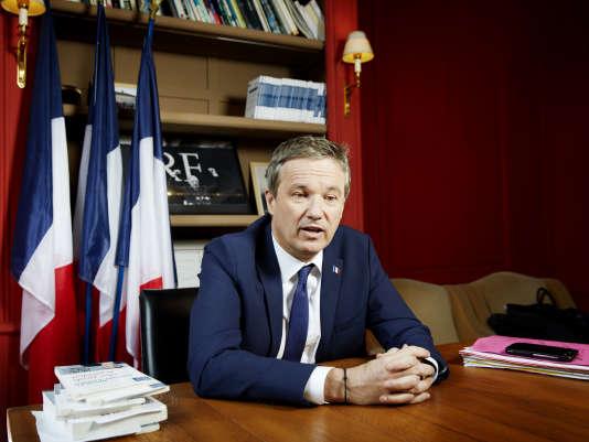 Le candidat de Debout la France, Nicolas Dupont-Aignan, est arrivé en sixième position lors du premier tour de la présidentielle.