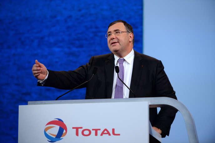 Le PDG de Total, Patrick Pouyanné, à Paris, en mai 2016.