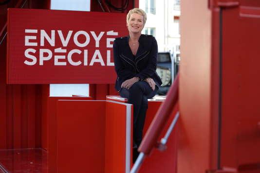 Elise Lucet présente «Envoyé spécial» sur France 2.
