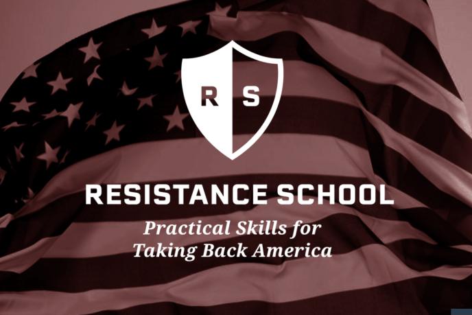 Page d'accueil du site« Resistance School» créé par un groupe d'étudiants de l'université Havard Kennedy de Cambridge (Massachusetts).