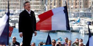 Jean-Luc Mélenchon, à Marseille, le 9 avril 2017.