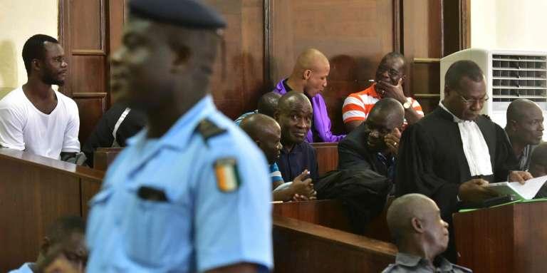 Au procès des « disparus du Novotel», à la cour d'assises de Yopougon, le 11avril 2017, à Abidjan.
