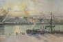 «Quai de la bourse, Rouen, soleil couchant» (1898), deCamille Pissarro, huile sur toile, exposé au Musée Marmottan-Monet.