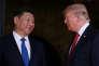 Le président chinois Xi Jinping et le président américain Donald Trump, à Mar-a-Lago, (Palm Beach, en Floride),le 6 avril 2017.