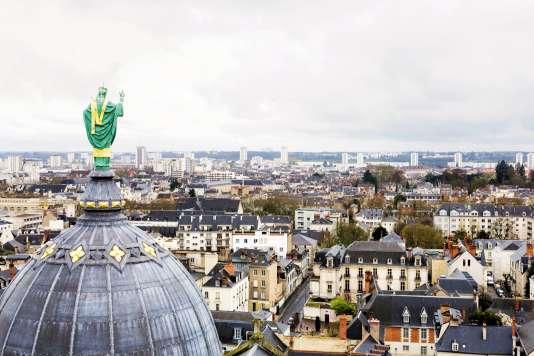 La vue depuis la tour Charlemagne.