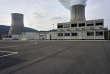 Réacteur nucléaire de Chooz A, en démantèlement par EDF sur la commune de Chooz dans les Ardennes. Le 5 avril 2017. L'ancienne tranche Chooz A se situe dans l'enceinte de la centrale Chooz B, qui est en production. Les bâtiments en préfabriqués abritent les services de la dé-construction. © Antonin Lainé/ Divergence pour Le Monde