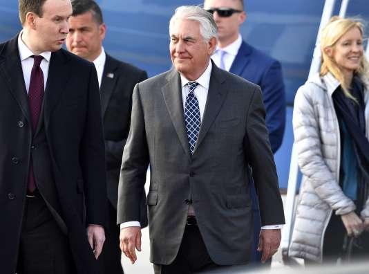 Le secrétaire d'Etat américain, Rex Tillerson, à son arrivée à l'aéroport de Moscou le 11avril.