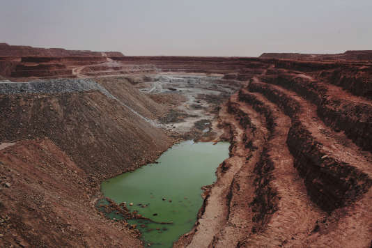 La mine d'uranium de Tamgak exploitée par Areva à Arlit, au Niger, en septembre 2013.