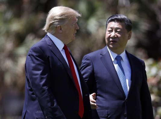 Donald Trump, et le président chinois, Xi Jinping, à Mar-a-Lago (Floride), le 7 avril.