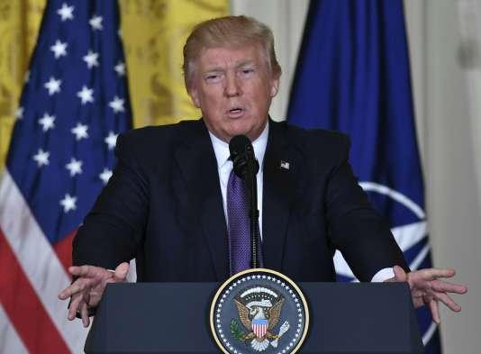 Le président américain à Washington, mercredi 12 avril.