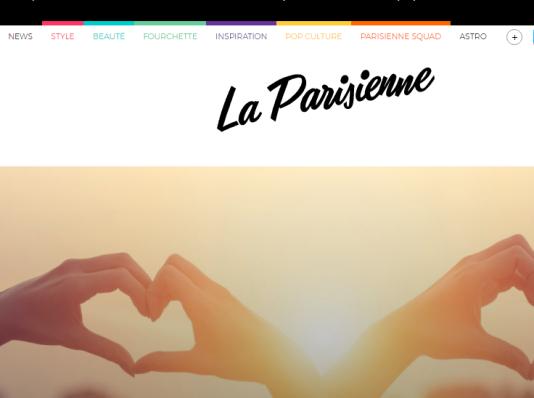 La page d'accueil du site de« La Parisienne».
