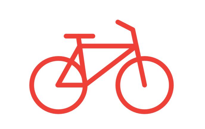AutoDraw reconnaît que le croquis initial est un vélo, et le transforme en dessin plus présentable.