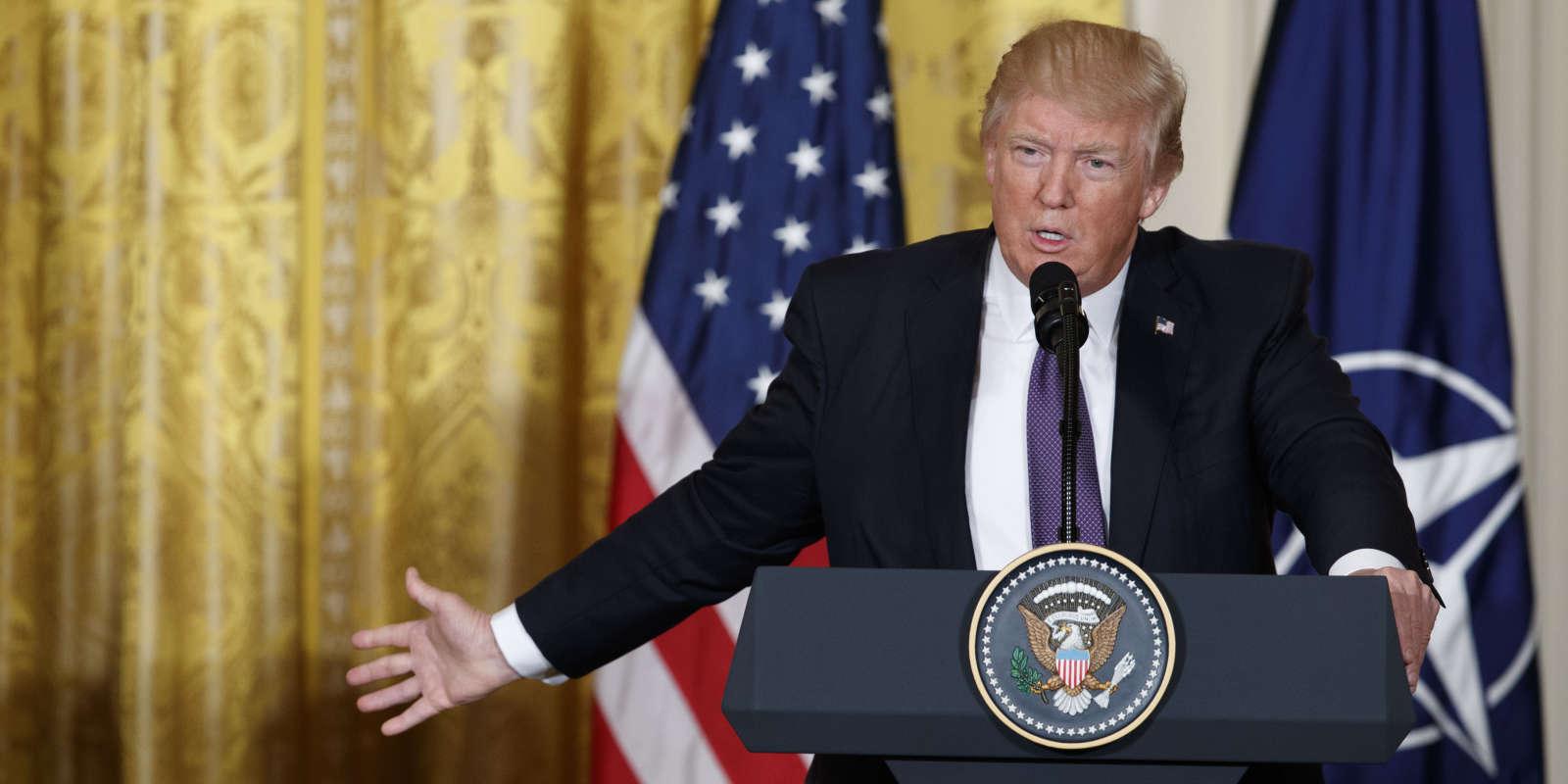 Donald Trump à la Maison Blanche, à Washington, le 12 avril.