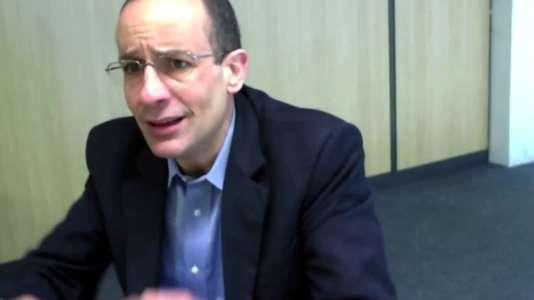 Capture d'écran d'une vidéo, publiée le 12avril, del'audition judiciaire de l'ancien patron du groupe de bâtiment et travaux publics Odebrecht, Marcelo Odebrecht.
