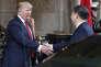 « Avec cette frappe limitée, l'Amérique revient au centre d'un jeu dans lequel elle avait cédé l'initiative stratégique à la diplomatie puis aux armées russes après le demi-tour d'Obama en août 2013» (Donald Trump et Xi Jinping, à Mar-a-Lago à Palm Beach en Floride).