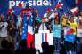 Emmanuel Macron, à un meeting de campagne à Pau, mercredi 12 avril.
