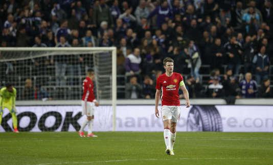 Lors de la rencontre entre Anderlecht et Manchester United, en quart de finale aller de la Ligue Europa, au stadeConstant Vanden Stock, le 13 avril.
