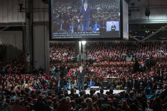 Au palais des congrès de Lille, le 12 avril.