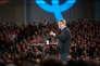 Jean-Luc Mélenchon en meeting, le 12 avril 2017, au Palais des congrès de Lille.